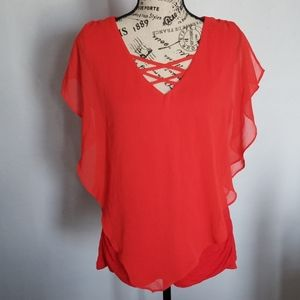 AGB Women's laced front top size L